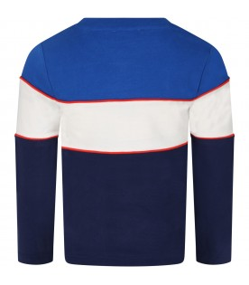 Color block T-shirt for boy with logo