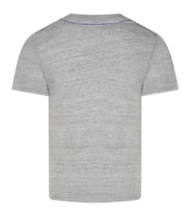 Grey T-shirt for boy with logo