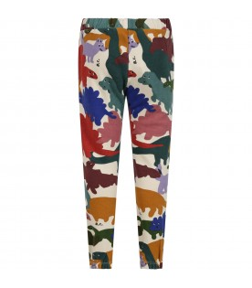 Ivory sweatpants for kids with dinos