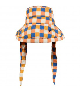 Multicolor sun hat for kids with logo