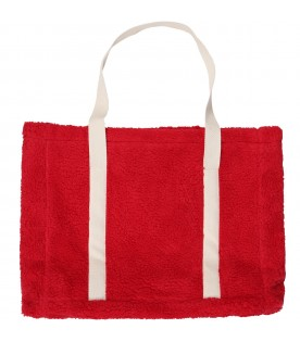 Red bag for girl with logo