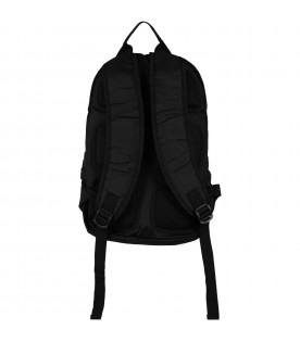Black backpack for boy with iconic cross