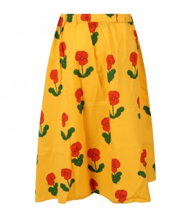 Yellow skirt for girl with violas