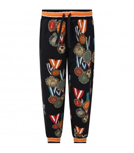 Blue sweatpant for boy with medals