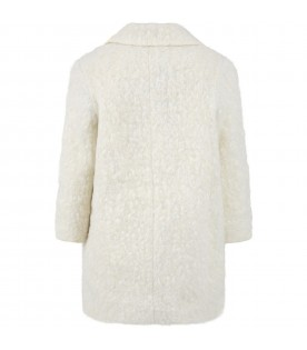 Ivory ''Concetta'' coat for girl