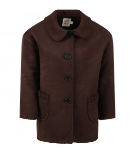 Brown ''Cristina'' sheepskin for girl