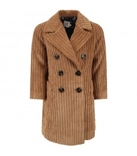 Camel ''Crudelia'' coat for girl