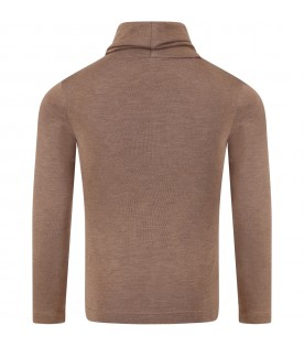 Brown ''Federica'' turtleneck for girl
