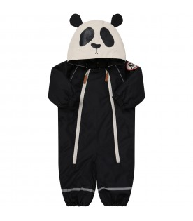 Black padded overall for kids
