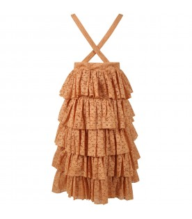 Beige skirt for girl with musical note