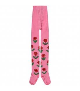 Fuchsia tights for girl