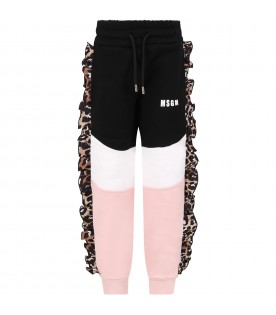 Color block sweatpant for girl with logo