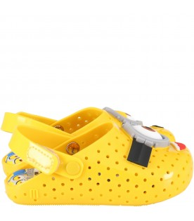 Yellow sandals for kids