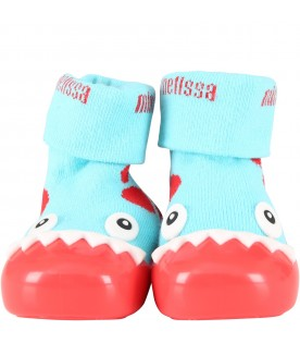Multicolor socks shoes for boy with dragon