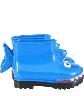 Azure boots for boy with shark