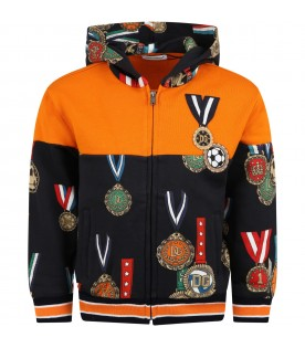 Multicolor sweatshirt for boy with medals