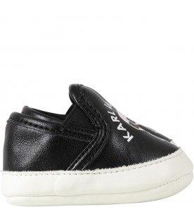 Black loafers for babykids