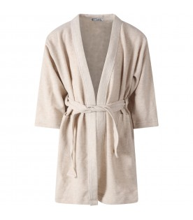 Beige dressing gown for kids
