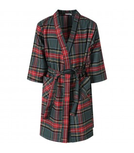 Tartan dressing gown for kids