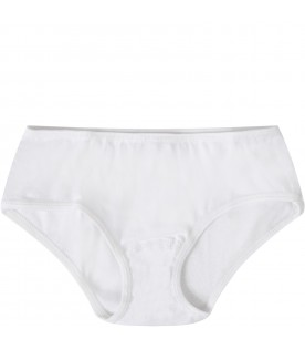 White knicker short for girl