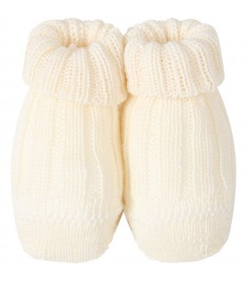 Ivory baby bootee for babykids