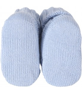 Light blue baby bootee for babyboy