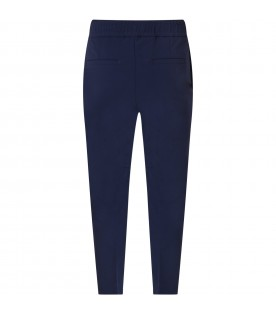 Blue trouser for boy with logos