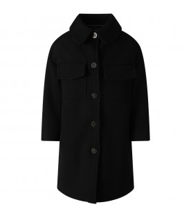 Black coat for girl