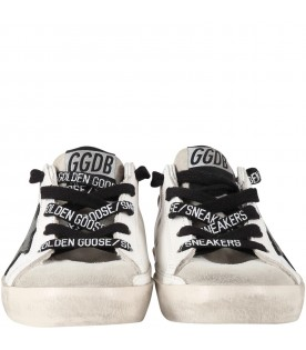 White ''Super star''  sneakers for kids with iconic star