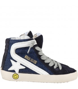 Denim ''Slide classic'' sneakers for kids with iconic star