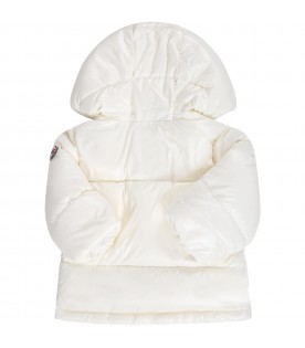 Ivory ''Plug'' jacket for babygirl with patch