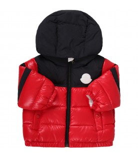 Red ''Elm'' jacket fro babyboy with patch
