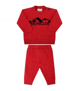 Red suit for babykids with black writing