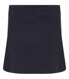 Blue skirt for girl with logo