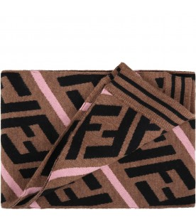 Brown scarf for girl