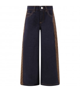 Blue jeans culotte for girl