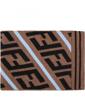 Brown scarf for kids