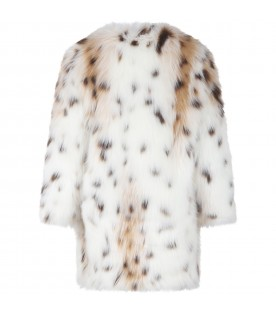 Ivory faux fur for girl