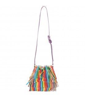 Multicolor bag for girl wiith fringes