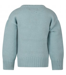 Light blue sweater for kids with ufo