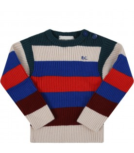 Multicolor sweater for babykids with logo