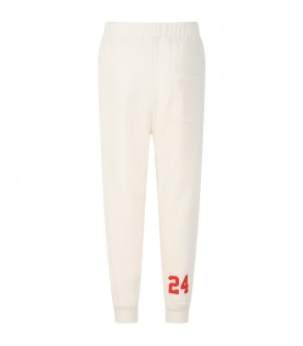 Ivory sweatpant for boy with number