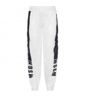 White pant for boy with logo