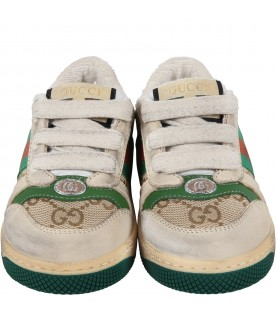 "Sneakers ""Screener GG"" beige per bambini"