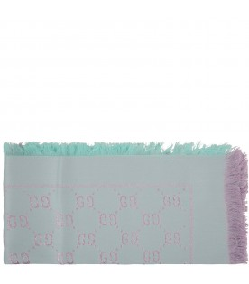Teal scarf for girl