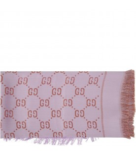 Lilac scarf for girl