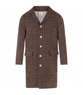 Brown coat for kids with iconic G
