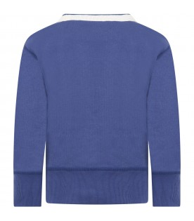 Blue sweatshirt for kids with logo