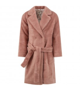 "Pink ""Rosa"" coat for girl"
