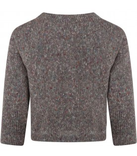 """Grey """"Licia"""" sweater for girl"""